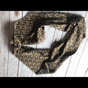 MK black & gold/bronze infinity scarf